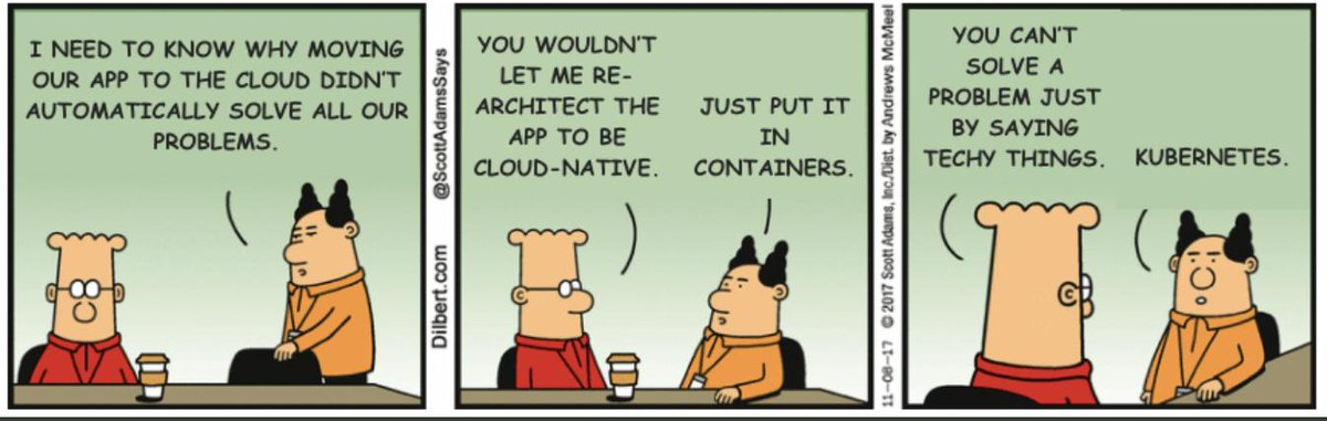 Image result for dilbert kubernetes