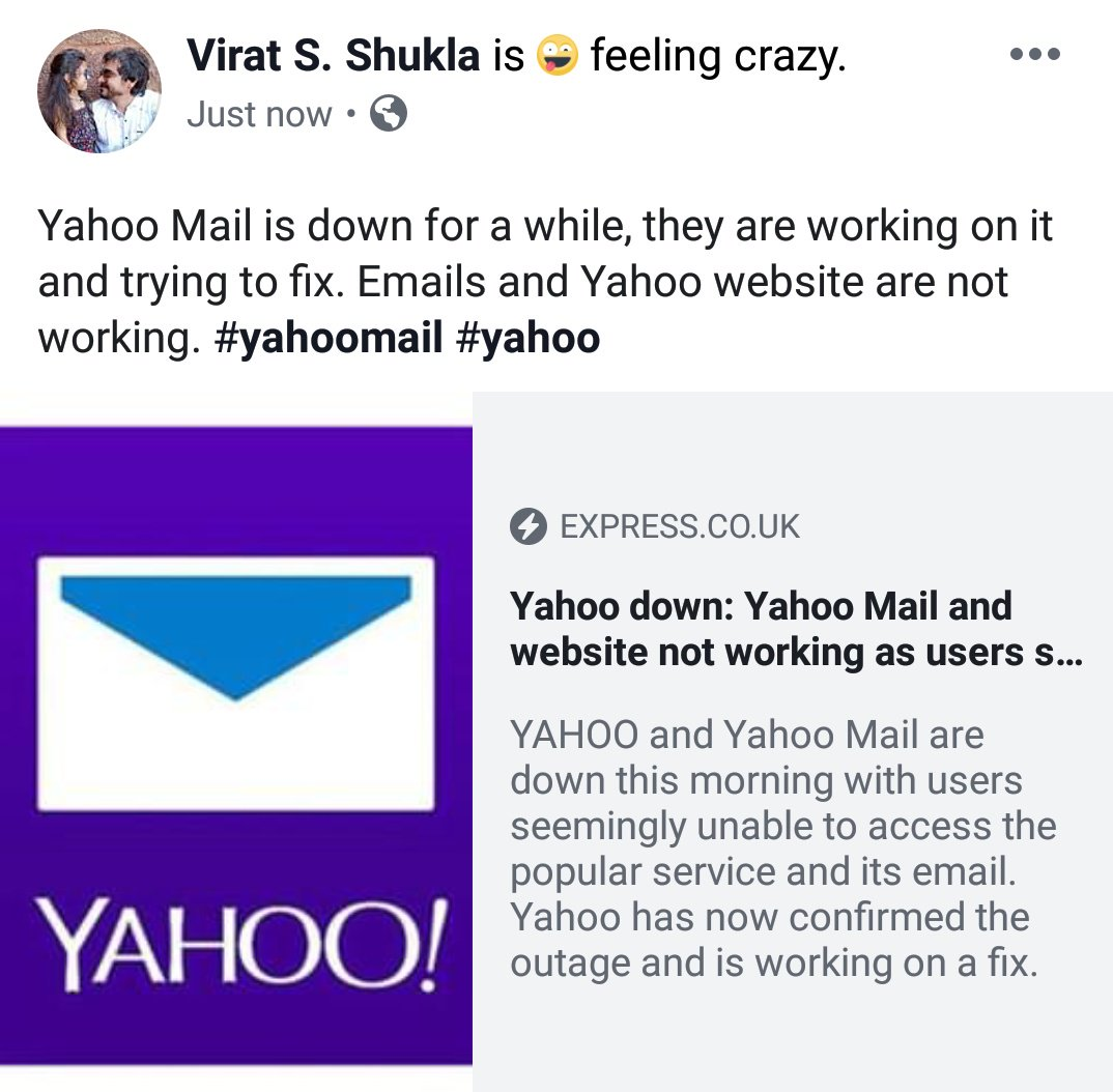 yahoomail hashtag on Twitter