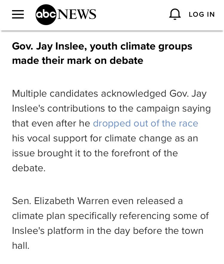 """Takeaway from @ABC: Inslee """"made [his] mark on the race"""" abcnews.go.com/Politics/takea…"""