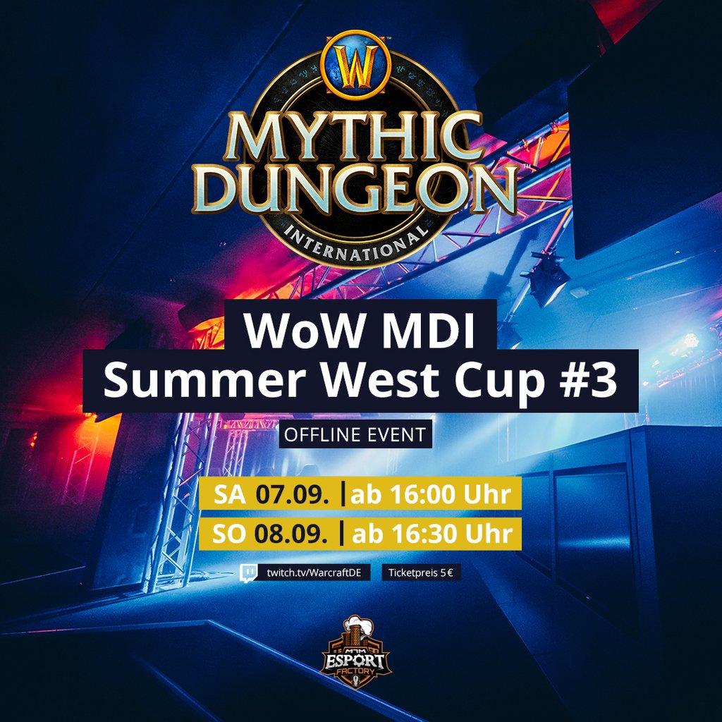 Dieses Wochenende wird aus der Esport Factory der deutsche Stream des @Warcraft_DE MDI Summer West Cup gecastet und das von niemand geringerem als @Kimuh_TV, @Deepshades, @Nexxzz, @Erebawz, Lythi und Knoff! Tickets gibt es noch auf esportfactory.de oder an der Abendkasse!