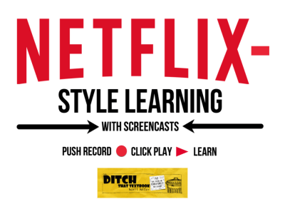 Create Netflix-style learning with screencasts ditchthattextbook.com/2017/09/21/cre… #DitchBook #edtech