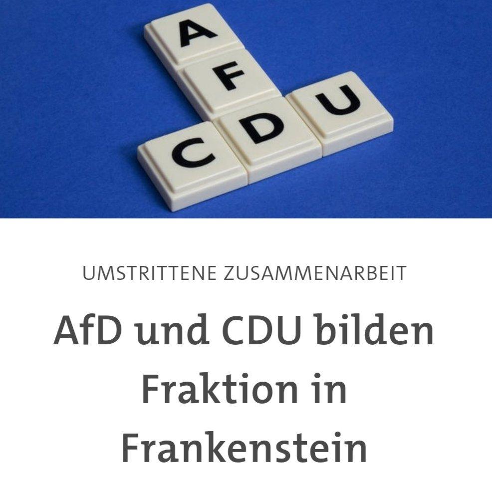 Frankensteins Monster: Die erste offizielle CDU/AfD-Fraktion ist da.