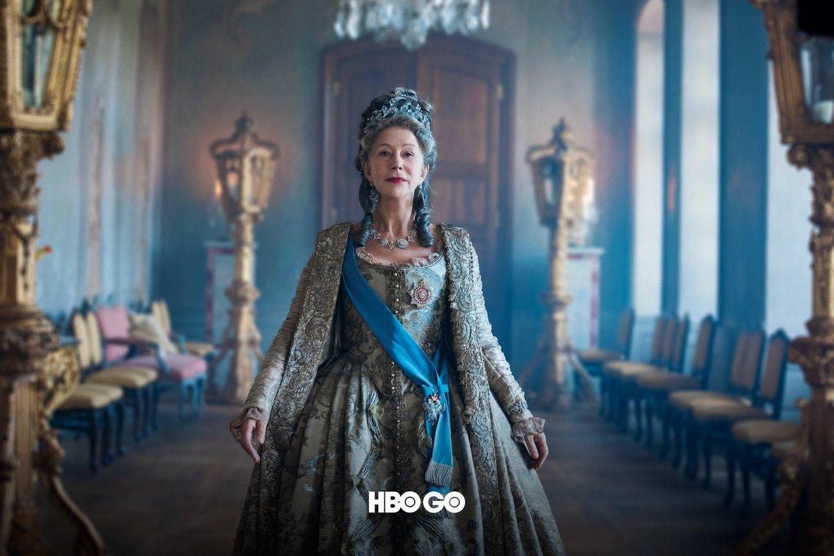 """Гледайте Хелън Мирън в новия сериал """"Екатерина Велика"""" в HBO GO от 3-ти октомври! https://t.co/Mim5Q8SM6g"""