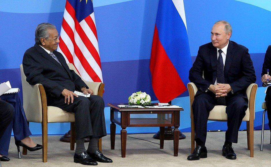#EEF2019: Vladimir Putin met with Prime Minister of Malaysia Mahathir Mohamad bit.ly/2lZTNc7