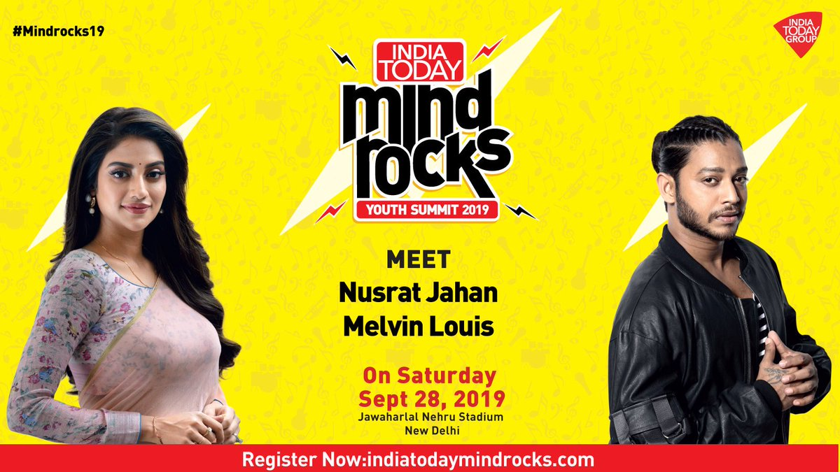 Meet actress and member of Parliament @nusratchirps and dancer-choreographer @melvinlouis254 at #Mindrocks19 on 28th September.Register NOW @ http://bit.ly/2ksZzma #Promo