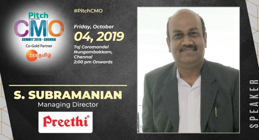 Welcoming S Subramanian Managing Director Preethi Kitchen