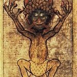 Image for the Tweet beginning: The massive Codex Gigas, or