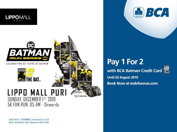 Kartu Kredit Bca على تويتر Menggunakan Kartu Kredit Bca Visa Batman Kuota Promo Berlaku Untuk 500 Transaksi Pertama 1 Transaksi Hanya Dapat Membeli 1 Tiket Berbayar Pembelian Melalui Website Https T Co Tjeppd4reh 1 Kartu