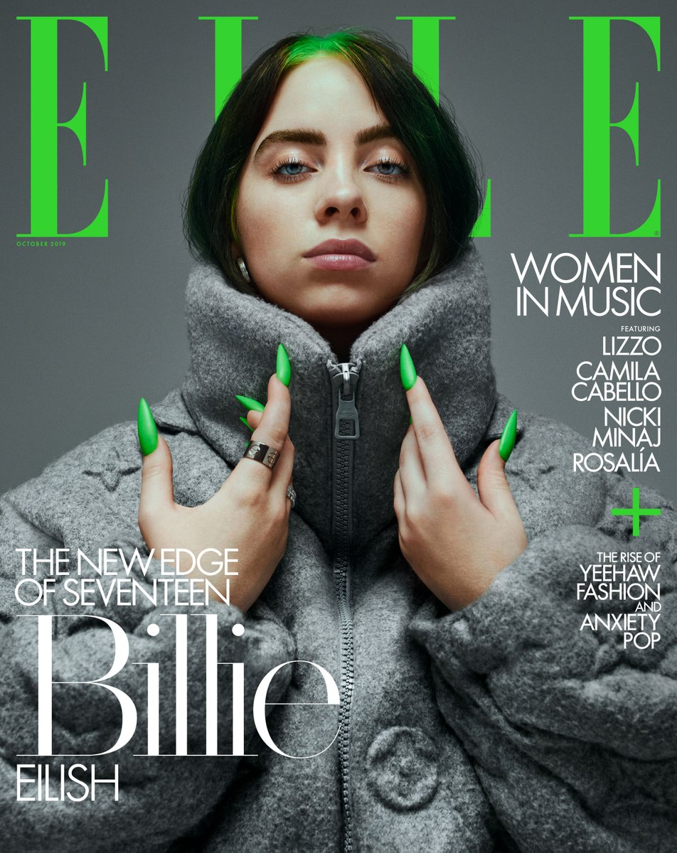 Billie on the cover of @ELLEmagazine. elle.com/culture/a28872…