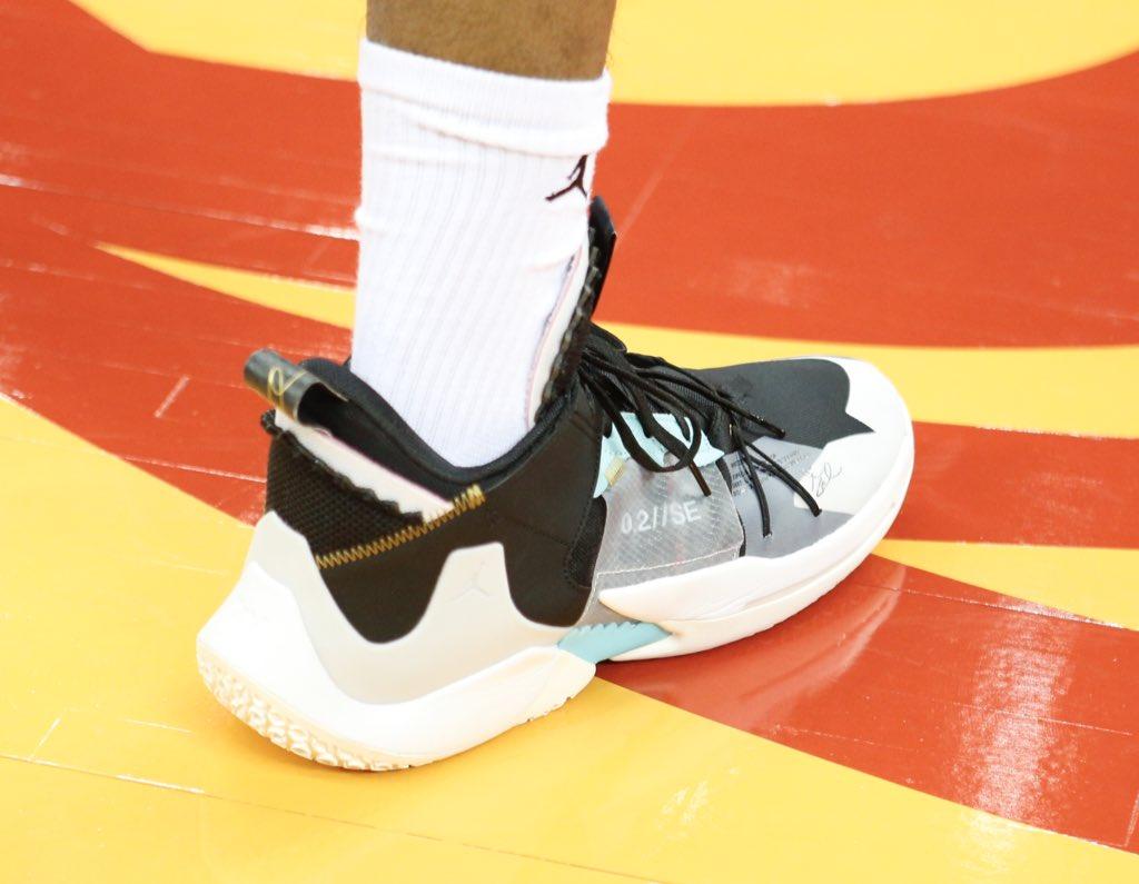 🇯🇵 @rui_8mura's Jordan Why Not? Zer0.2 for today's @FIBAWC action! #NBAKicks