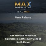 Image for the Tweet beginning: 📢News Release: MAX Resource Announces