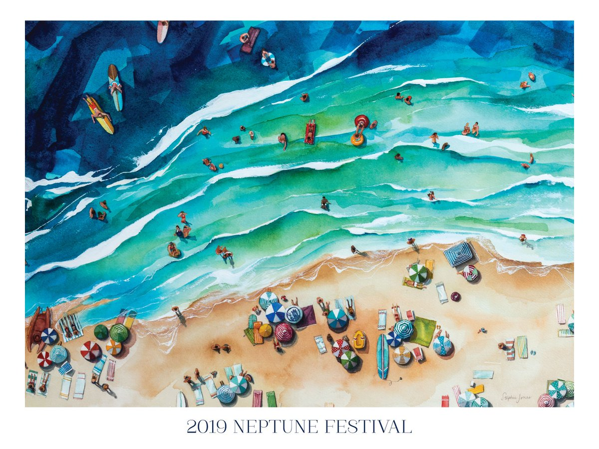 Local artist, @StephieJonesArt, was commissioned to create the 2019 Neptune Festival Commemorative Poster artwork and the result is absolutely beautiful! To read more about the piece and Stephies inspiration, click > bit.ly/2kviCMG