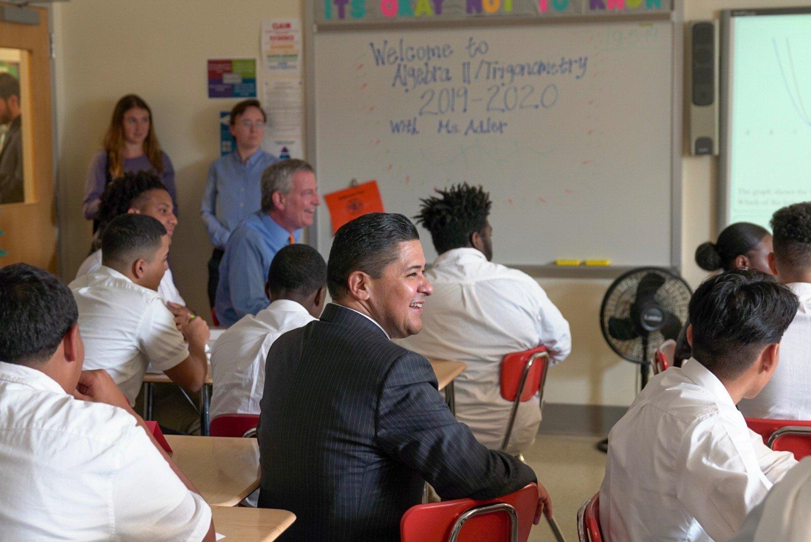 Nyc Public Schools On Twitter Stop 3 Bronx Leadership Academy Ii Doechancellor Carranza Nycmayor De Blasio Uft Prez Mulgrew Visit Rebecca Adler S Algebra Ii Class It S One Of 60 Schools In