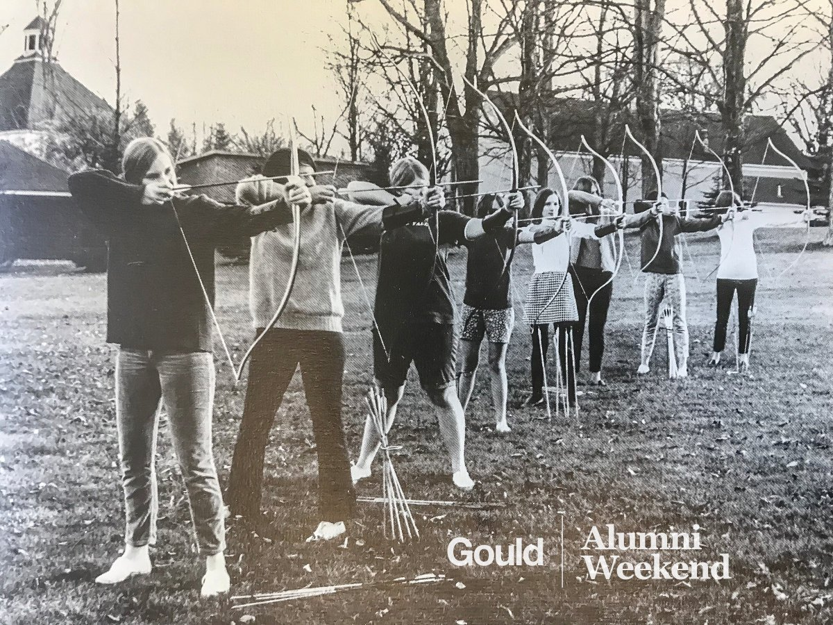 Gouldies: Don't make us hunt you down! Register for Alumni Weekend today! gouldacademy.org/alumni/alumni-…