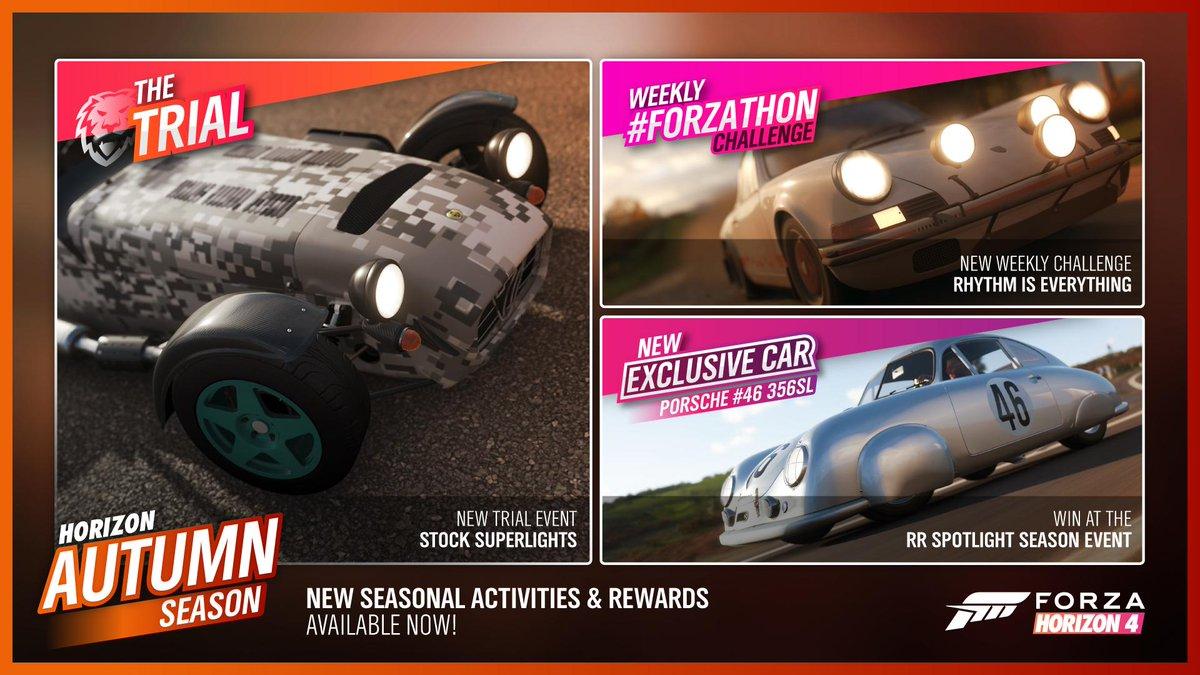 Autumn #Forzathon Shop, Festival Playlist events and rewards
