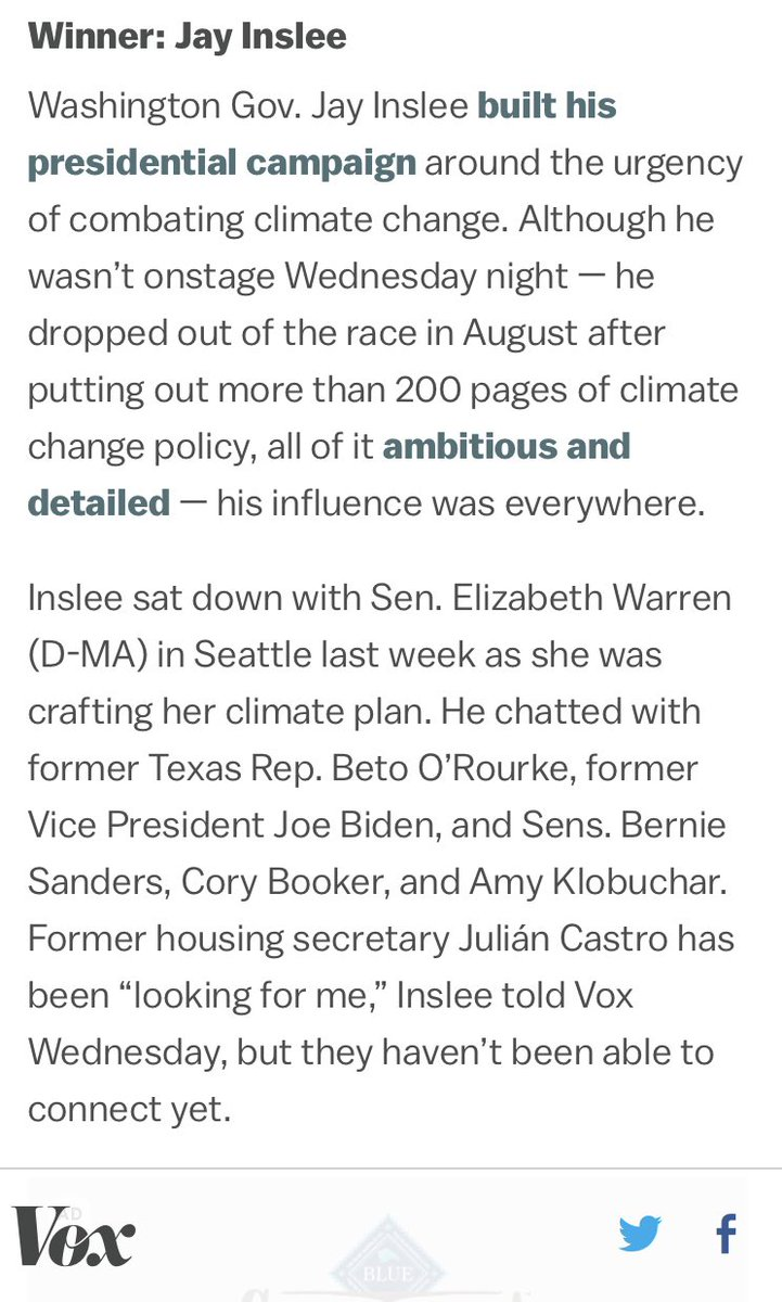 """Takeaway from @voxdotcom: """"Winner: Jay Inslee... his influence was everywhere."""" vox.com/2019/9/5/20850…"""