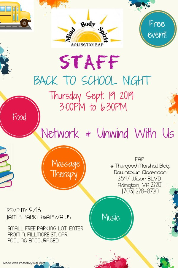 You're invited to network, get a massage and a healthy meal at EAP's BTSN event Thursday, September 19th  RSVP at ext. 8720 <a target='_blank' href='https://t.co/biGDYMZamS'>https://t.co/biGDYMZamS</a>