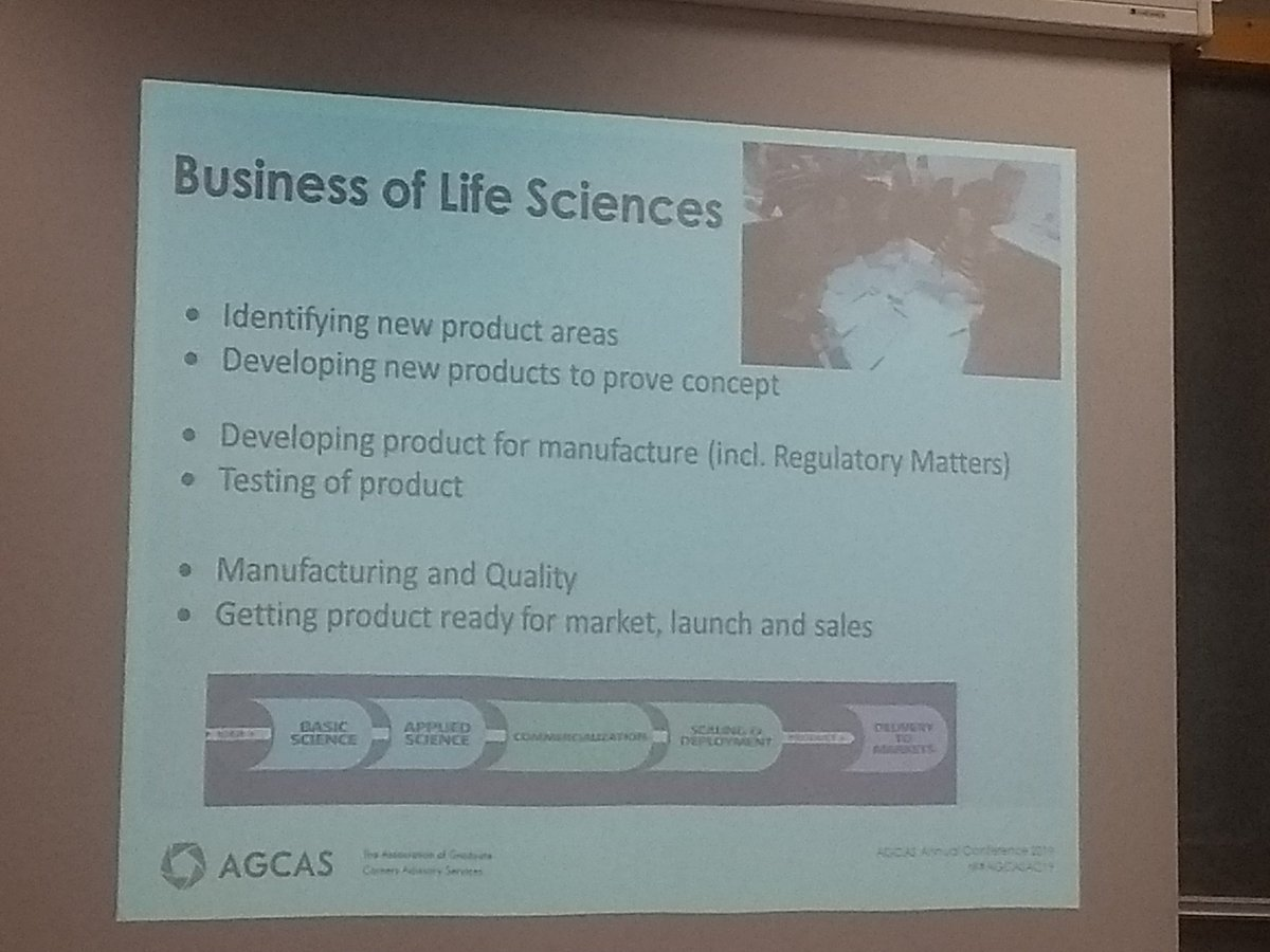 Great day at #AGCASAC19 conference. Really interesting speakers and workshops. Finished off with a great workshop on working with local employers to develop commercial awareness for #lifescience students. Lots of great ideas!