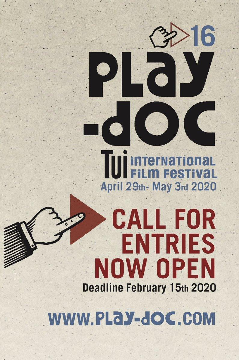 🔊Convocatoria abierta para participar en la XVI edición de Play-Doc Festival Internacional. ¡Inscribe aquí tu película! 👉🏽   ▪️Convocatoria aberta para #PlayDoc2020  ▪️Open call for Play-Doc Festival 2020, Submit you film now! 😀 @PlayDocFest #PlayDoc2020