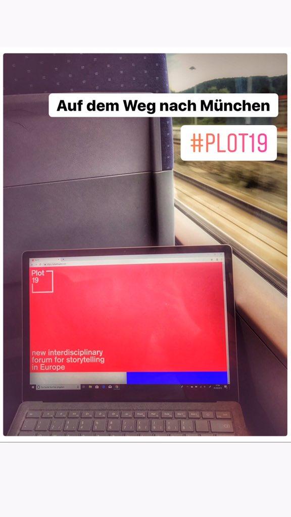Auf dem Weg nach #München. Freue mich auf die #plot19 #storytelling #pr #journalismus #design #film #kommunikation #hffmünchen pic.twitter.com/pVrLQjlGun