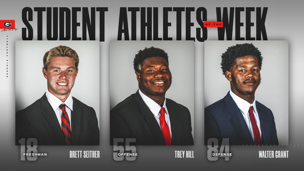 Congrats to our student-athletes of the week. Go Dawgs!