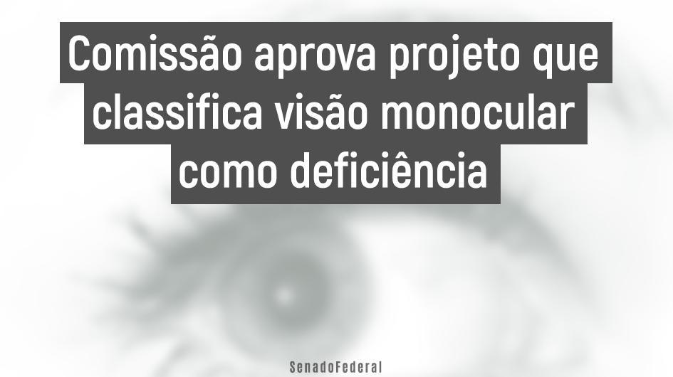 """Resultado de imagem para VISÃO MONOCULAR COMO DEFICIÊNCIA"""""""