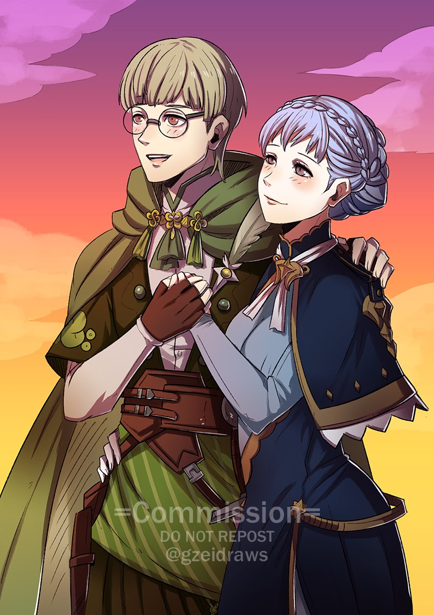 #FE3H Ignatz x Marianne Commission for @ForsetisRage417    #FE3HSpoilers *Please don't repost unless you're the client* https://t.co/54aYRweIBF