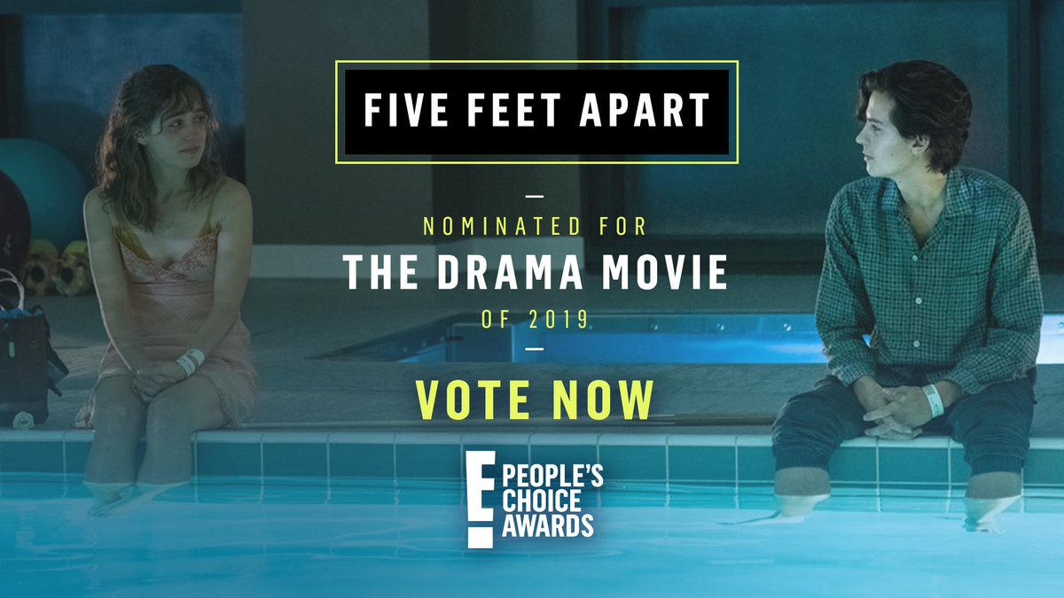 RT to vote for #FiveFeetApart as #TheDramaMovie now! #PCAs
