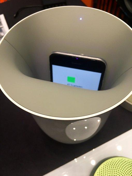 Smartphone zuverlässig aufladen per Qi-Induktion & Ba