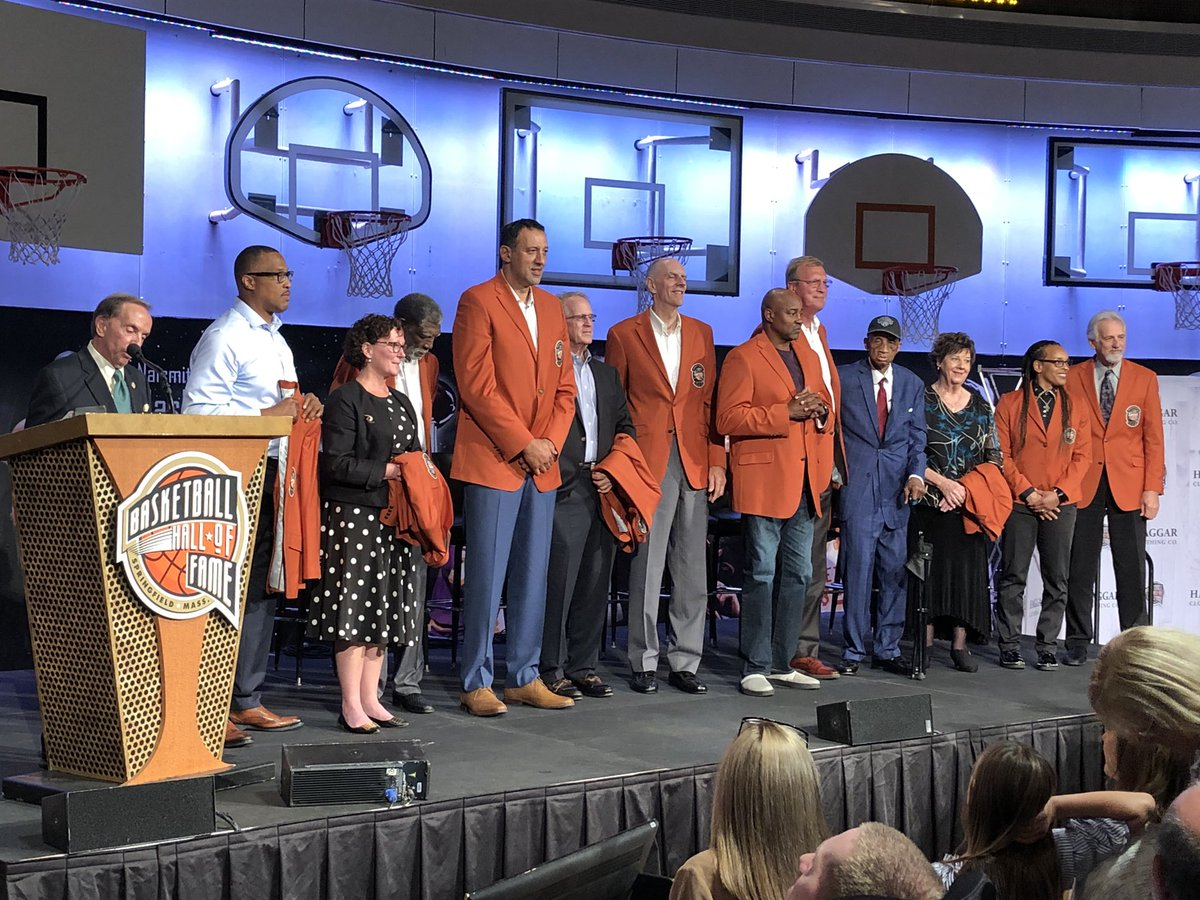 Your Class of 2019 at the Naismith Memorial Basketball Hall of Fame. News conference today, enshrinement ceremony Friday pm.