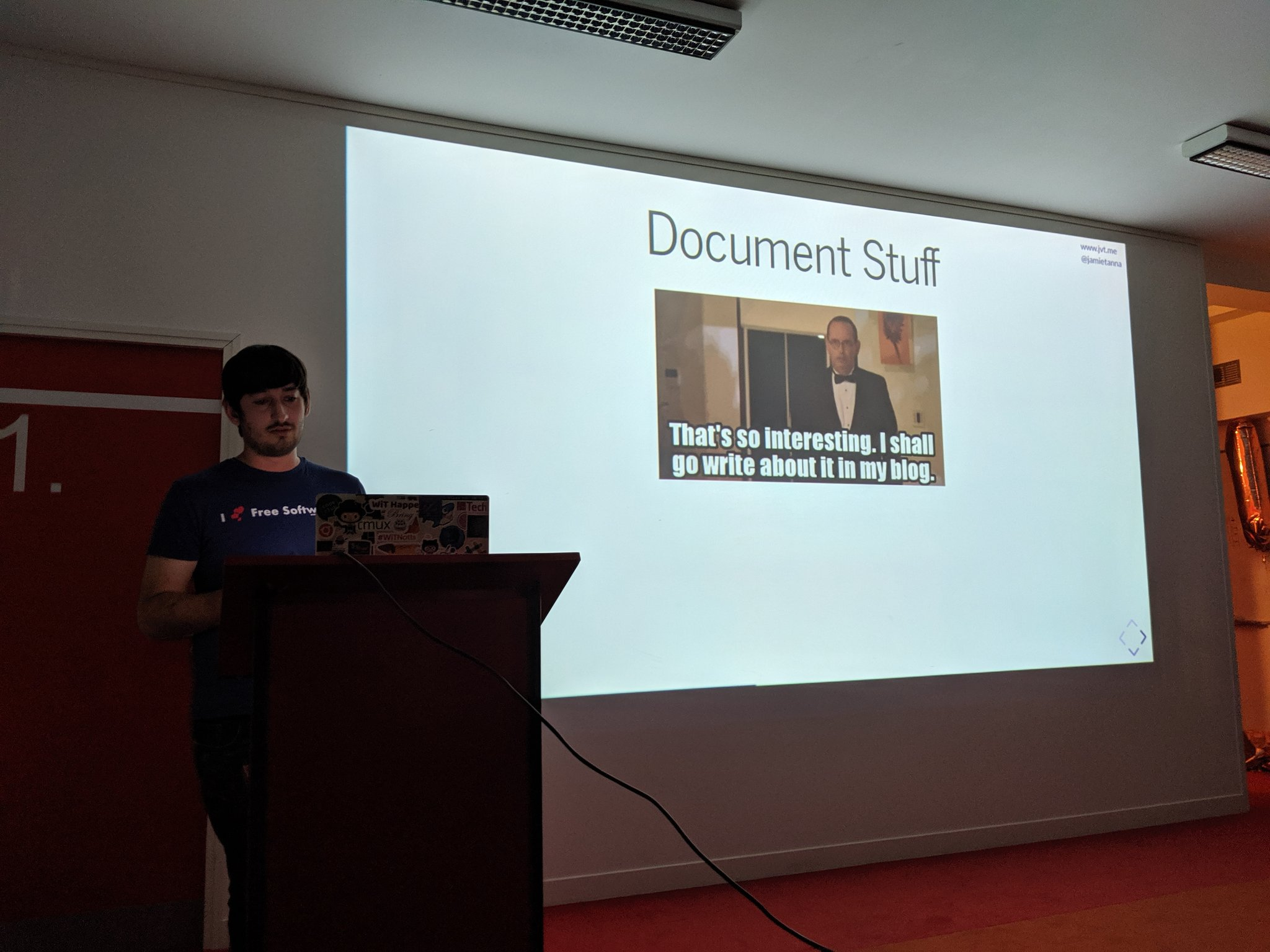 Jamie Tanna speaking about the IndieWeb