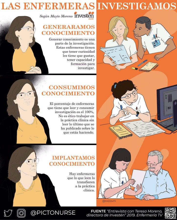 @pictonurse Un espacio donde se ofrecen noticias o informaciones de enfermería de forma ilustrada o mediante infografía realizadas por @tolitovm