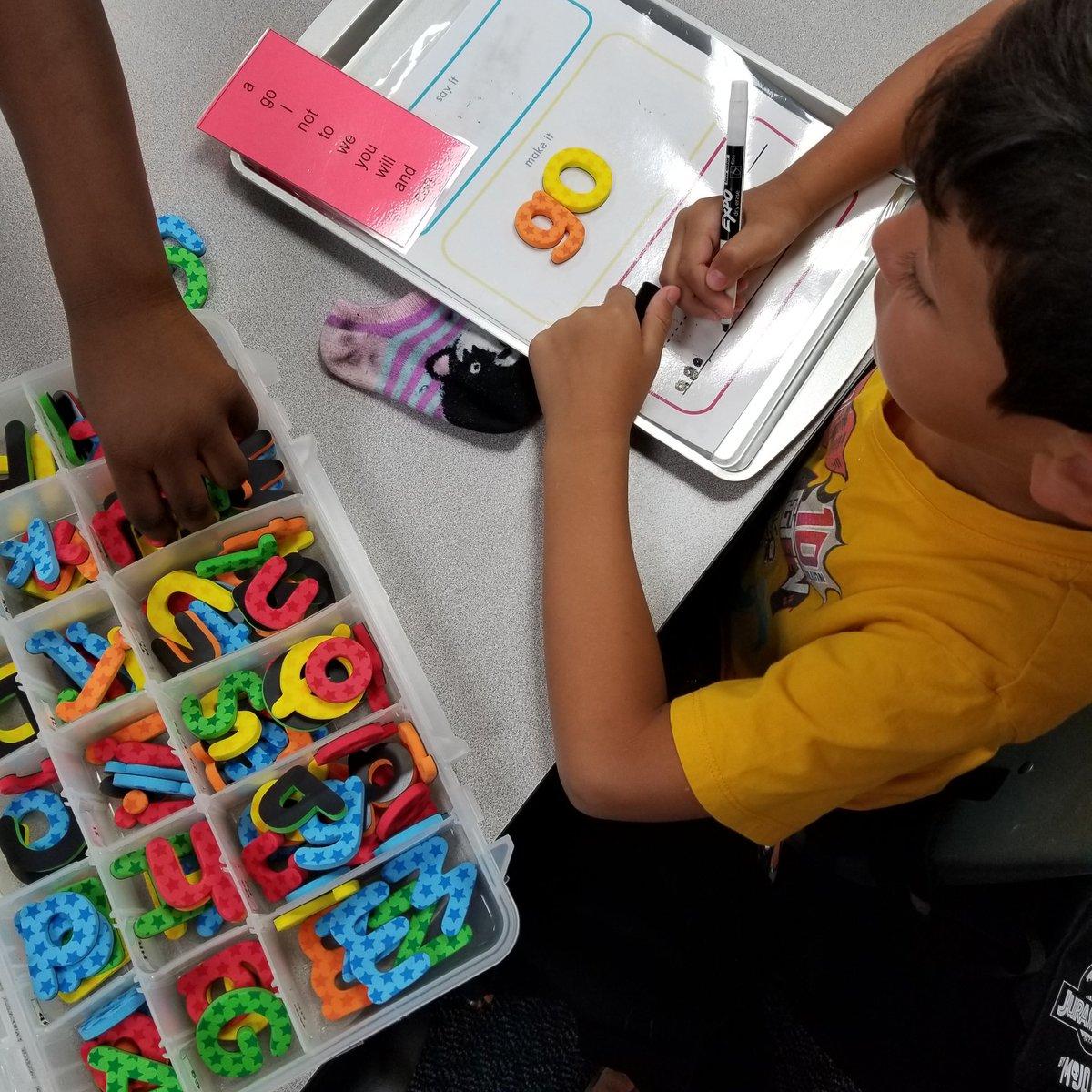 Word work fun in first grade! #IceCreamWords #SayItMakeItWriteIt @HemmenwayStreak #CFISDSpirit