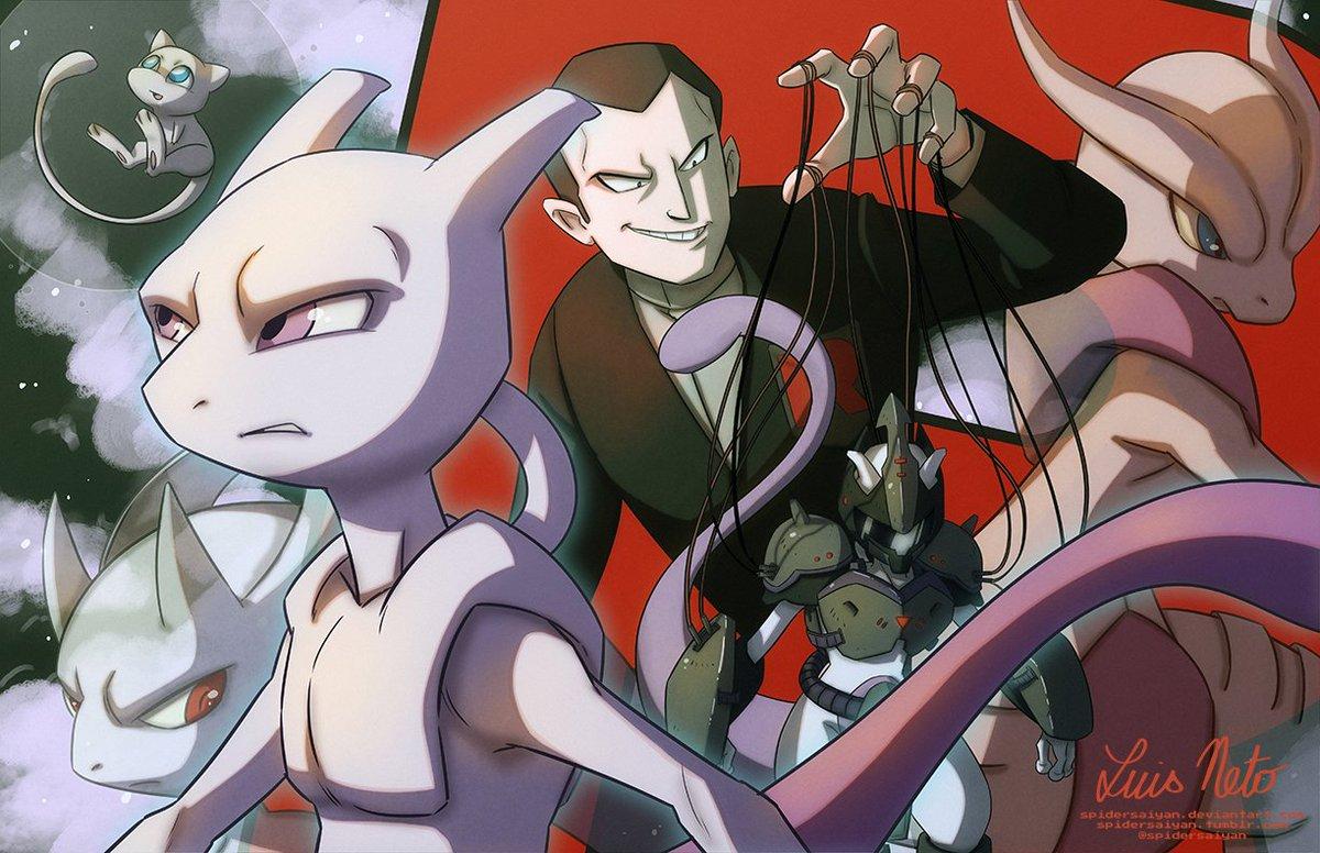 "Luis Neto sur Twitter : ""#TBT Here's a #mewtwo piece I made a few years ago  back. Hope ya like it! :D #pokemon #nintendo #nintendofanart #pokemonfanart  #fanart #giovanni #teamrocket #anime #videogames #mew #"