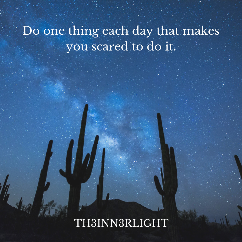 Do one thing each day that makes you scared to do it.#inspirationalquotesaboutlife #inspirationquotesandsayings #inspirationalquotes #inspirationalquotesofinstagram #tamilinspirationquotes #inspirationaquotes #hindiinspirationalquotes #inspirationquotes<br>http://pic.twitter.com/JHJ3o03Yqc