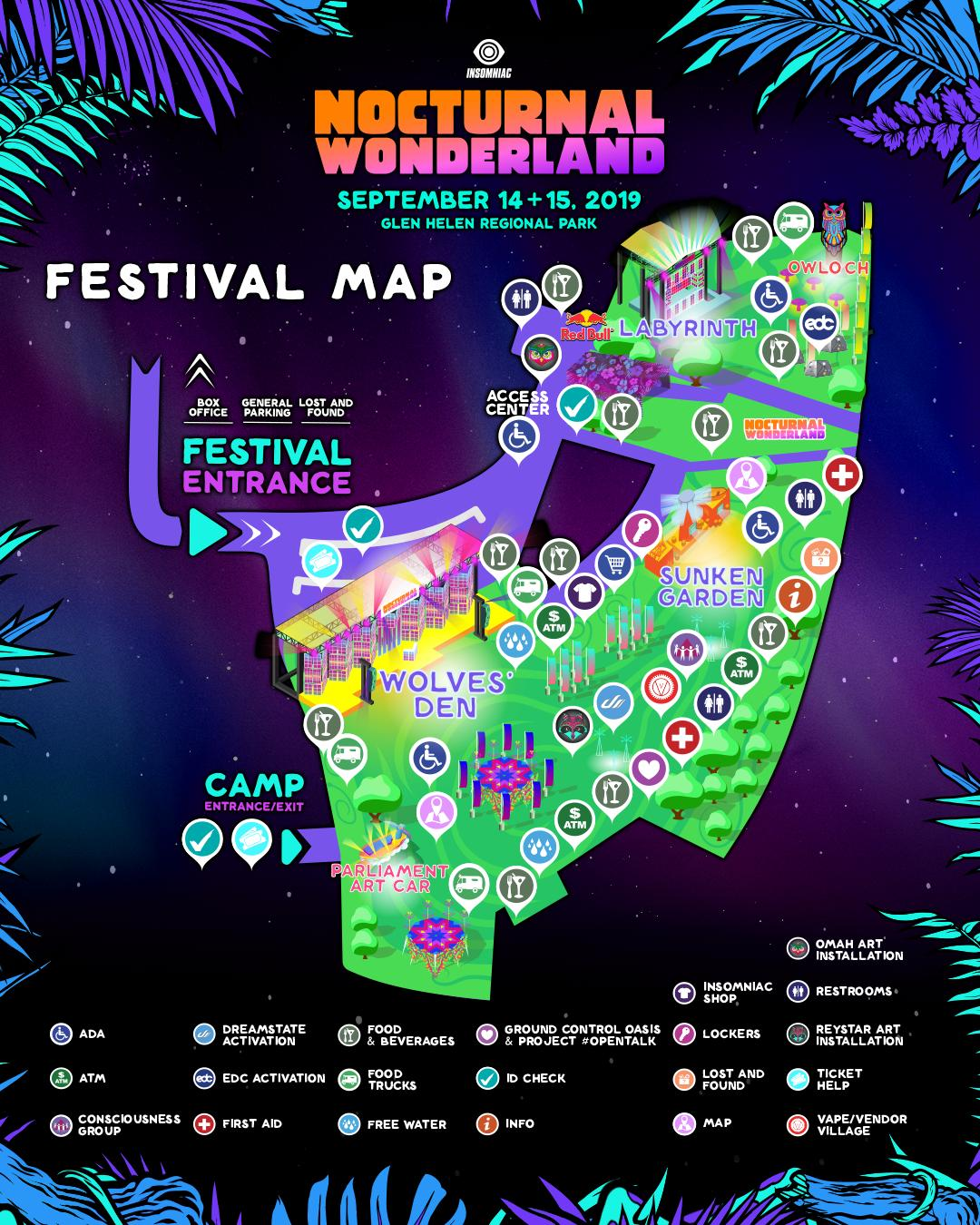 Nocturnal Wonderland map 2019