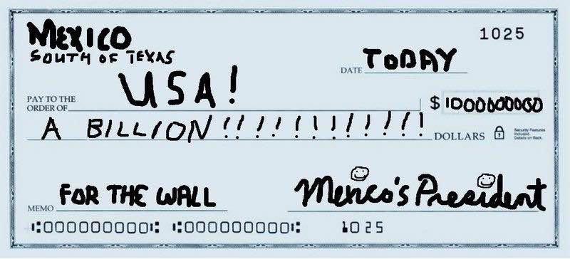 чек из Мексики
