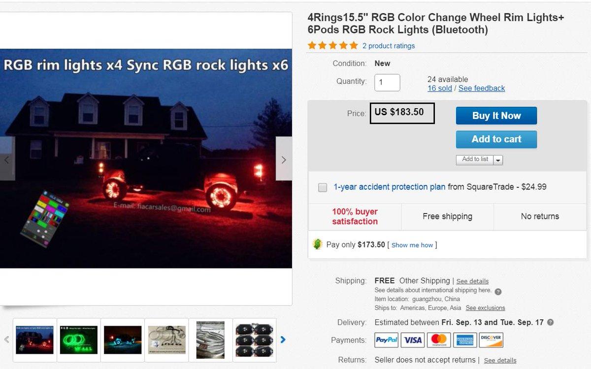 Auto Parts & Accessories Auto Parts and Vehicles 6Pods RGB Rock ...