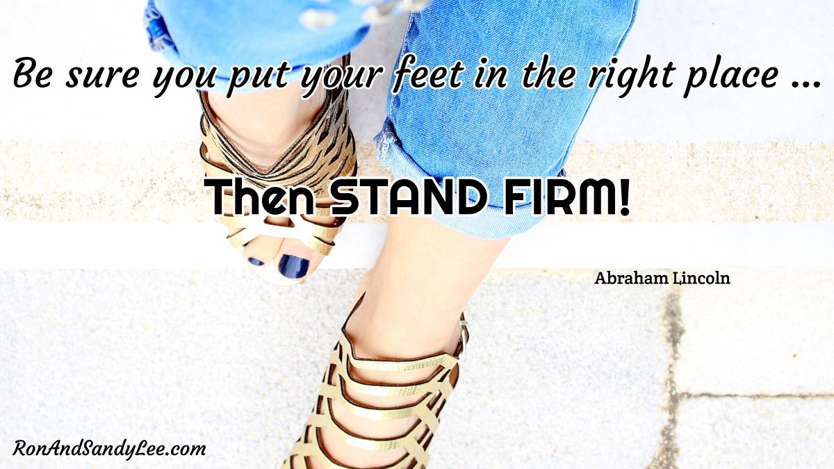 """""""Be sure you put your feet in the right place ... then STAND FIRM!"""" - Abraham Lincoln  Sure you're right?  Stand your ground!  #beawsome #businessdevelopment #businesssuccess<br>http://pic.twitter.com/VtikWfsXVa"""