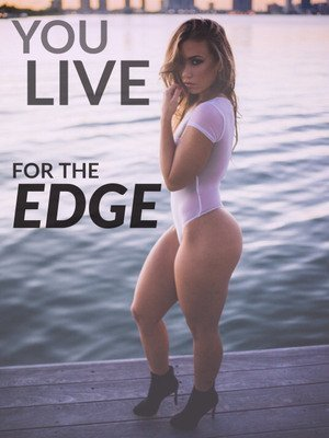 live to edge your hard cock