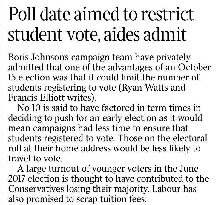 If true, this is utterly cynical of No.10 and anti-democratic in spirit.