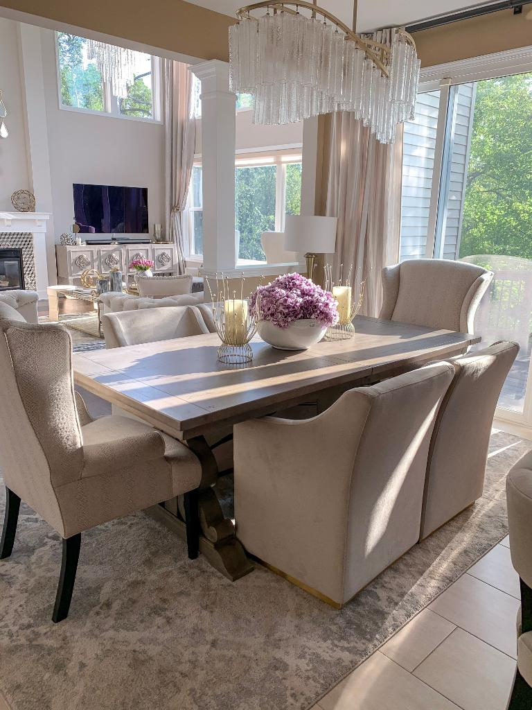 American Signature Furniture Support On Twitter We Love Our Dining Table So Much That We Decided To Place It In Our Kitchen Dining Room Asfstyleinsider Farah Merhi Is All About The Versatility
