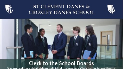 We are looking for a Clerk to the School Boards to join our team. Closing date Monday 16th September. https://t.co/EOwKRr3QUq https://t.co/fjp5HdYhl8