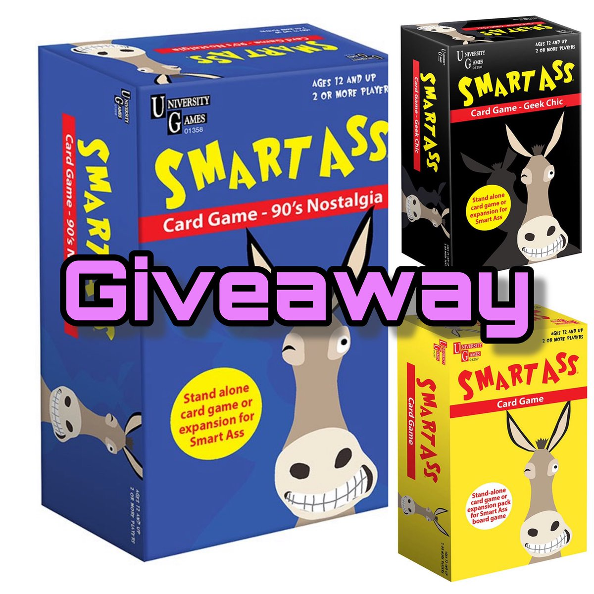 GIVEAWAY   TO ENTER: #RT #FOLLOW  @CuddleFairy & @ugamesUK   I have a 'Smart Ass Mini Games' bundle up for grabs! Great for travelling!!  T/c: closes 16/9/19, limited to residents of uk/irl. Full details:  https:// bit.ly/2ZnlMkS      #GiveawayAlert #giveaways #inittowinit #win <br>http://pic.twitter.com/xjHYQWKZEc