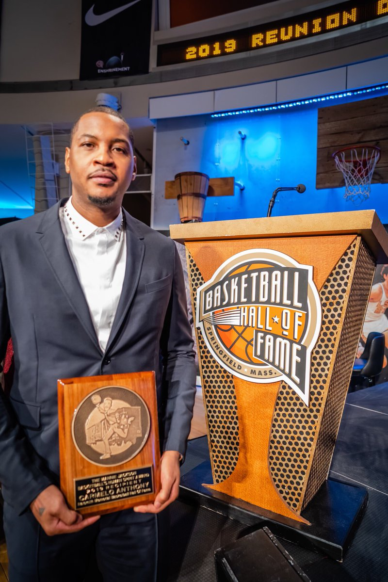 Honored to receive The Mannie Jackson Human Spirit Award from the @Hoophall #STAYME7O