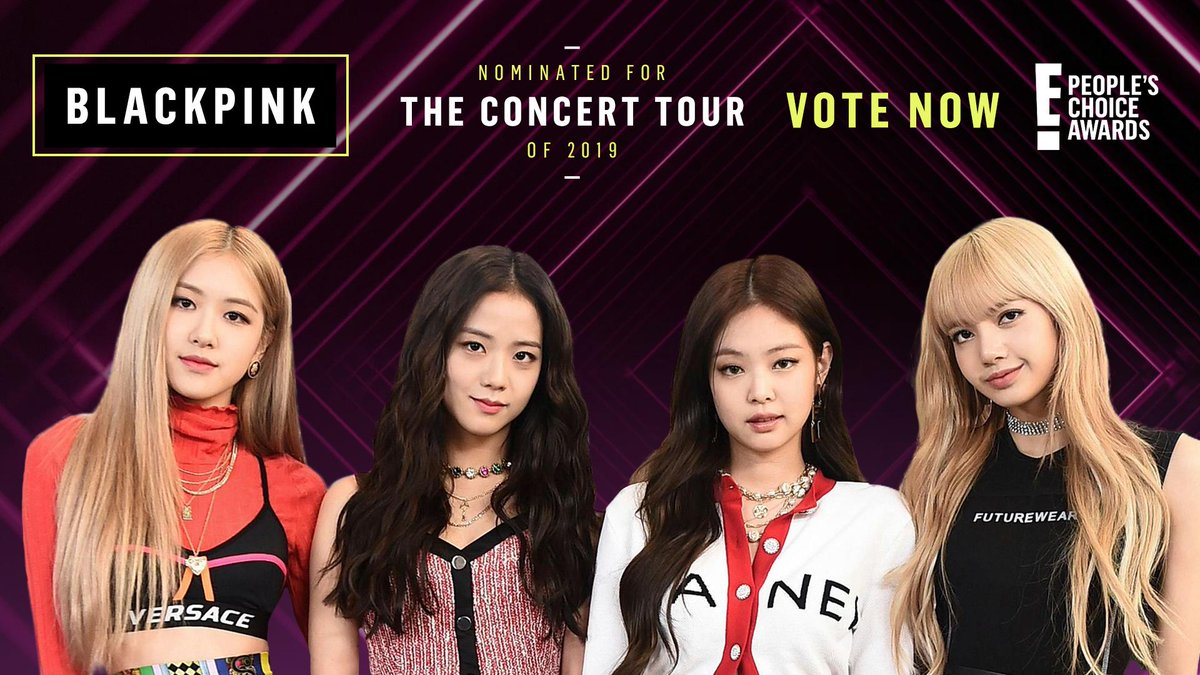 RT to vote for #BLACKPINKWORLDTOUR as #TheConcertTour of 2019 now! #PCAs