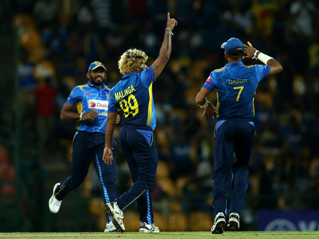 New Zealand have been bowled out for 88 – Sri Lanka win by 37 runs!  And Lasith Malinga was at the heart of the victory, taking his fifth international hat-trick. Fifth. Wow.   #SLvNZ SCORECARD    http:// bit.ly/SLvNZ-T20I3     <br>http://pic.twitter.com/rNhntMLZFZ