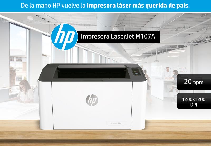 ¿Recuerdas la clásica SL-2020? Ahora se llama HP LaserJet M107A.
