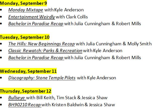 Nfl Schedule Channel Guide Siriusxm >> Ew Live Ewlive Twitter