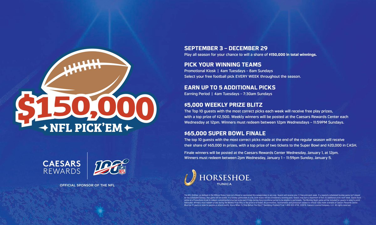 Stop by and choose your winning teams for a chance to win!